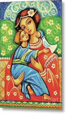 Metal Print featuring the painting Madonna And Child by Eva Campbell