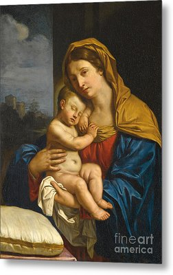 Madonna And Child Metal Print by Guercino