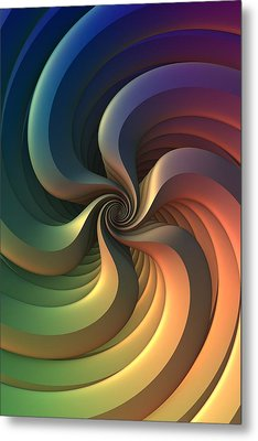 Metal Print featuring the digital art Maelstrom by Lyle Hatch