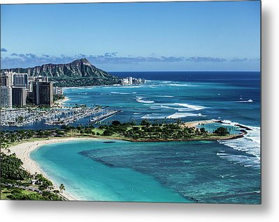 Magic Island To Diamond Head Metal Print