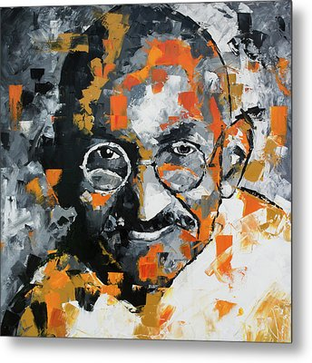 Metal Print featuring the painting Mahatma Gandhi by Richard Day