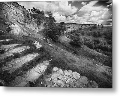 Metal Print featuring the photograph Malham Cove, Yorkshire, Uk by Richard Wiggins