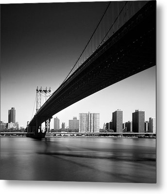 Manhattan Bridge Metal Print by Nina Papiorek