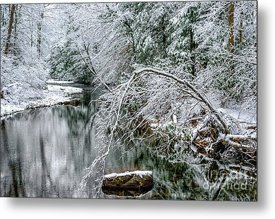 Metal Print featuring the photograph March Snow Cranberry River by Thomas R Fletcher
