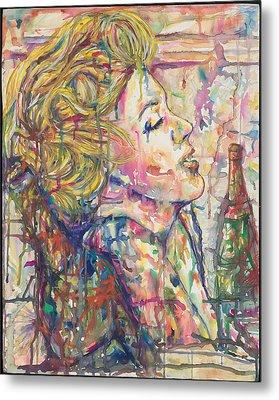 Marilyn's Medicine Metal Print by Joseph Lawrence Vasile