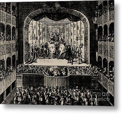 Markgrafentheater In Erlangen, 1721 Metal Print by Johann Baptista Homann