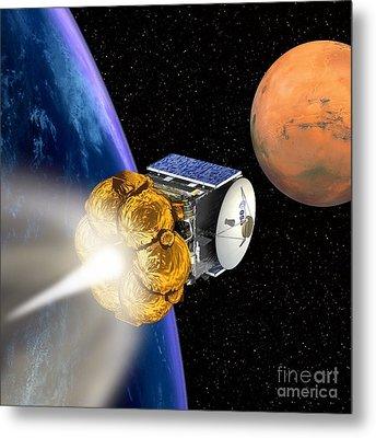 Mars Express Booster Rocket, Artwork Metal Print