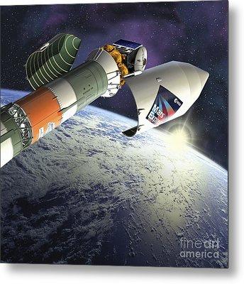 Mars Express Launch, Artwork Metal Print