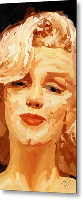 Metal Print featuring the painting Marylin Monroe 3 by James Shepherd
