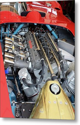Maserati Engine Metal Print