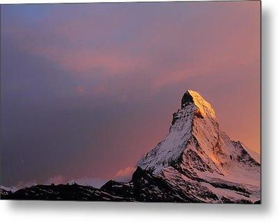 Matterhorn At Sunset Metal Print