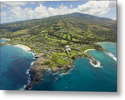 Maui Aerial Of Kapalua Metal Print by Ron Dahlquist - Printscapes