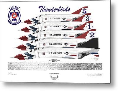 Mcdonnell Douglas F-4e Phantom II Thunderbirds Metal Print