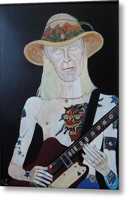 Mean Town Blues.johnny Winter. Metal Print