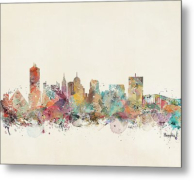 Memphis City Skyline Metal Print by Bri B