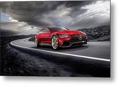 Mercedes A M G   G T Metal Print by Movie Poster Prints
