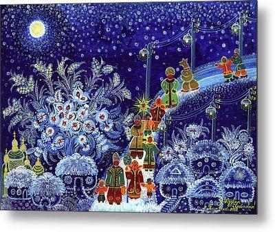 Merry Christmas Metal Print by Marfa Tymchenko
