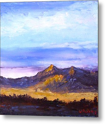 Mesa Sunset Metal Print by Fred Wilson