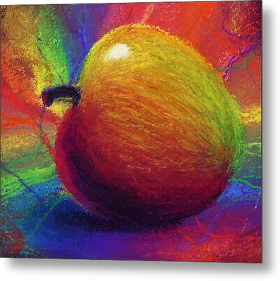 Metaphysical Apple Metal Print by Kd Neeley