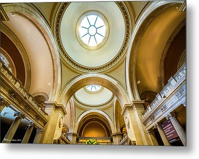 Metal Print featuring the photograph Metropolitan Museum Of New York by Marvin Spates