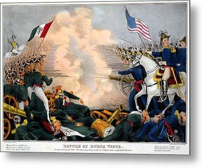 Mexican-american War. Battle Of Buena Metal Print by Everett