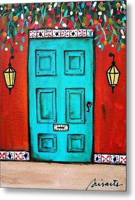 Mexican Door Painting Metal Print