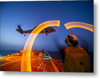 Mh-60s Sea Hawk Helicopter  Us Navy  Metal Print