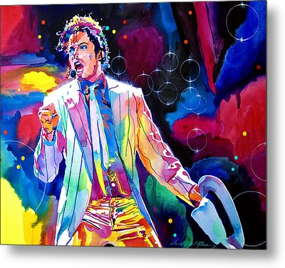 Michael Jackson Smooth Criminal Metal Print by David Lloyd Glover