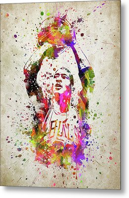 Michael Jordan In Color Metal Print