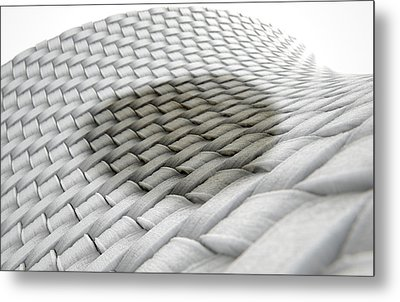 Micro Fabric Weave Stain Metal Print by Allan Swart