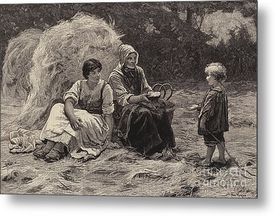 Midday Rest Metal Print by Frederick Morgan