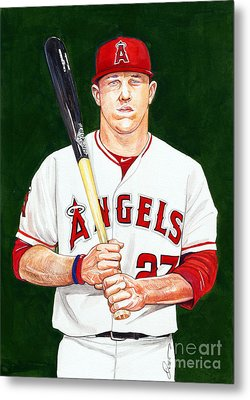Mike Trout Metal Print by Dave Olsen