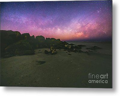 Milky Way Beach Metal Print