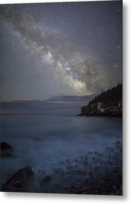 Milky Way In Maine Metal Print by Chad Tracy