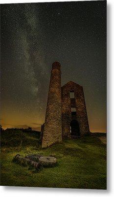Milky Way Over Old Mine Buildings. Metal Print by Andy Astbury
