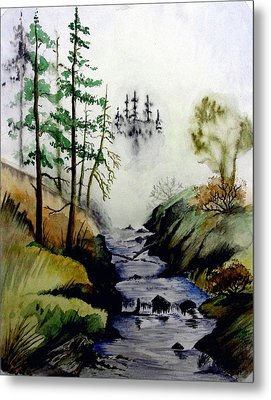 Misty Creek Metal Print by Jimmy Smith