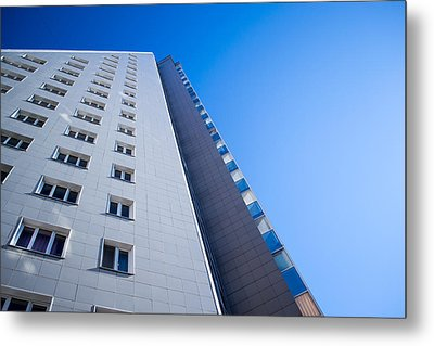 Metal Print featuring the photograph Modern Apartment Block by John Williams
