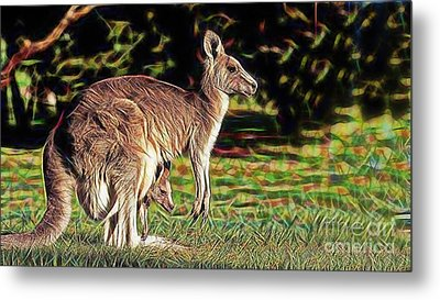 Mom And Child Metal Print by Marvin Blaine