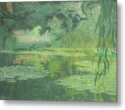 Monet's Lament Metal Print