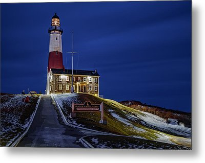 Metal Print featuring the photograph Montauk Point Lighthouse by Susan Candelario