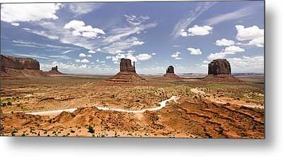 Monument Valley Wide Angle Metal Print by Ryan Kelly