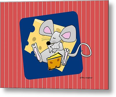 Moochie Loves Cheese Metal Print by Arline Wagner
