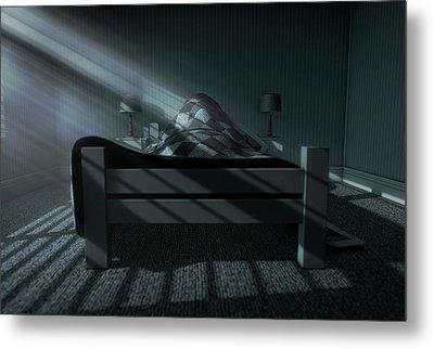 Moonlight Sleep In Metal Print by Allan Swart