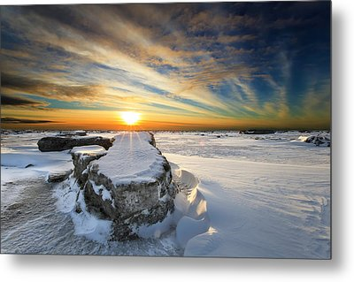 Moose's Tooth Metal Print by Ed Boudreau