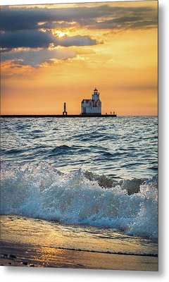 Metal Print featuring the photograph Morning Dance On The Beach by Bill Pevlor