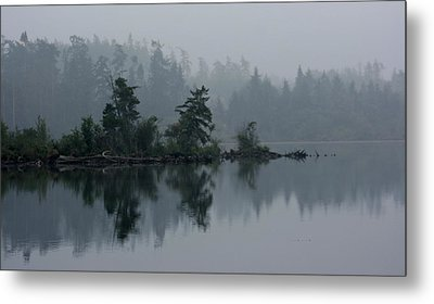 Morning Fog Over Cranberry Lake Metal Print