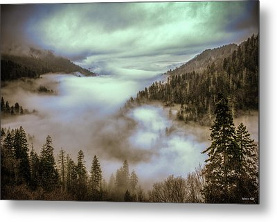 Morning Mountains II Metal Print by Rebecca Hiatt