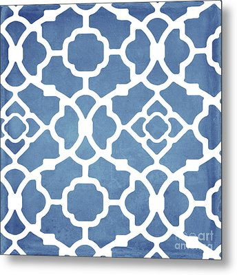 Moroccan Blues Metal Print by Mindy Sommers