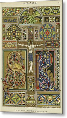 Mosaic Patterns From The Middle Ages Metal Print