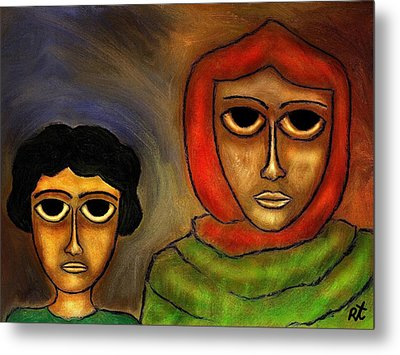 Mother And Child Metal Print by Rafi Talby